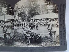 WW1 BESTOWING MEDAILLE MILITAIRE ADJUTANT DAMBRINE S WOUNDED KEYSTONE STEREOVIEW