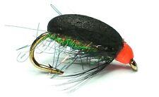 COCH Y BONDDU BEETLE TROUT FISHING FLIES - SIZE 10