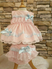c522e5e44 DREAM 0-5 YEARS BABY LILAH RANGE SUMMER TOP AND FRILLY BUM PANTS OR REBORN