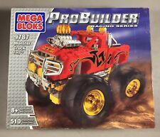 Mega Bloks Probuilder Racing Series  Monster Truck Fury 9787 Red 4x4 Brand New