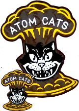 Fallout 4 Atom Cats - Back Patch & 3 small Front Pocket Arm Logos +111s Cosplay.