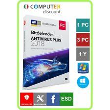 Bitdefender Antivirus Plus 1,3 Pc 1 anno licenza elettronica software protezione