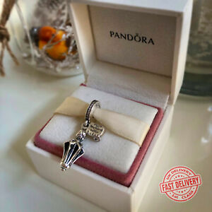PANDORA Silver Disney Mary Poppins Umbrella Pendant Charm - 797507CZ