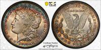 1878-CC Morgan Silver Dollar PCGS MS64 Beautiful Rim Rainbow Toned US Coin 6902