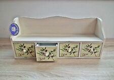 Kästchen Hängekästchen Olive Vintage Shabby Chic Holz Aufbewahrung Cremeweiß