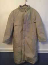 Large The Company Store Men's Warm Down Insulated Coat Trench Style Tan