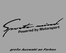 Sports Mind Auto Aufkleber Sticker JDM FUN Tuning 20cm Powered by Motorsport