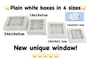 Empty pick & mix sweet boxes with window!4 sizes!!NEW UNIQUE WINDOW-LOWEST PRICE