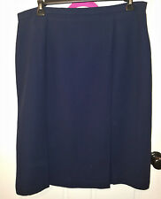 Dressbarn Blue Pleated and Lined Skirt Partial Elastic Waist Zipper Back 20W