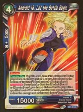 Android 18, Let the Battle Begin | EB1-20 UC | Blue | Dragonball Super