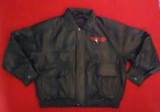 Men's NASCAR Leather Circuit City Racing Bomber Jacket  New XL Black Worldwide