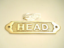 Nautical Maritime Solid Brass Head Door Sign Decorative Wall Plaque New