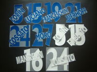 KIT NOME+NUMERO UFFICIALE AC CHIEVO HOME/AWAY 2001-2003 OFFICIAL NAMESETS