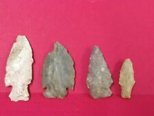 4 Authentic Arrowheads found in the Mississippi Delta Area, Close to Miss. River
