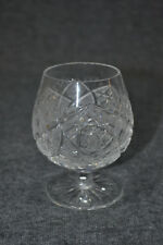 Kognakgläser, Kristallglas böhmisch, Ananasschliff, etwa 1930, 6 Stück