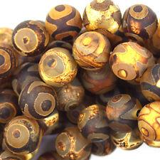 """12mm Tibetan DZI agate round beads 14.5"""" strand S1"""