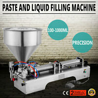 100-1000ml Liquid Filling Filler Machine Toothpaste Cream Cylinder