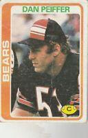FREE SHIPPING-POOR-1978 Topps  #318 Dan Peiffer BEARS
