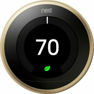 Nest T3032US 3rd Generation Learning Thermostat - Brass