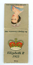 1953 Coronation of Queen Elizabeth Match Book