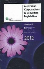 Australian Corporations and Securities Legislation 2011 Vol 1 by CCH Australi...