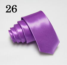 Skinny Tie * New Mens Solid Colors Suit Neckties* 2 inch Slim Tie**Free Shipping
