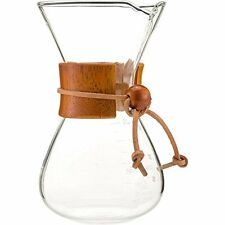 Chemex Pour Over Coffee Maker Classic Glass Style 13.5oz Wood Collar Best Design