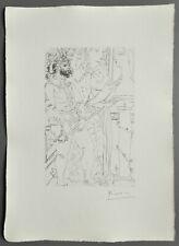 Pablo Picasso Suite Vollard Ltd. Signed Lithograph 32x45 Trois Acteurs Bloch 145