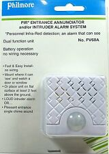 Philmore PV68A Wireless PIR Entrance Door Bell Chime Annunciator