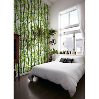 Watercolor Bamboo removable wallpaper Floral wall mural Flowers self adhesive