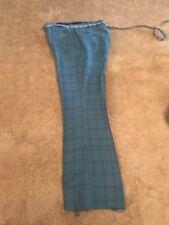 Levis Young Men's Polyester Sta-prest Stripe Blue Slacks Pants Vintage Retro