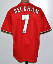 5b0631a0e53 MANCHESTER UNITED 2000 2001 2002 HOME FOOTBALL SHIRT JERSEY UMBRO  7 BECKHAM