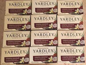 NEW! Lot of 12 Yardley London Creamy Coconut Moisturizing Bath Bar 4.25 oz  Soap