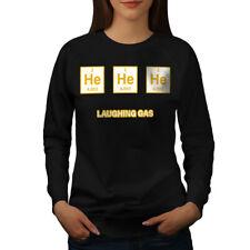 Wellcoda Nerd He He Chemistry Womens Sweatshirt, Gas Joke Casual Pullover Jumper