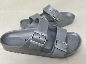 NEW! Birkenstock Women's Arizona Essentials Double Buckle Slide Sandals Slv 128S