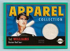 TED WILLIAMS 2004 UPPER DECK PLAY BALL APPAREL COLLECTION GAME WORN JERSEY