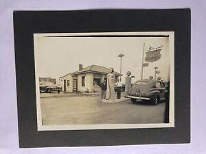 Vintage Photograph Gas Station Richfield Gas Rocor