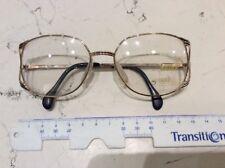 Zeiss 6883 4200 53-17 occhiale vista donna vintage nuovo colore oro