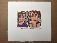 "James RIZZI: Original 3D, handsigniert, ""SMOKE GETS IN YOUR EYES"", 1990 Mini"