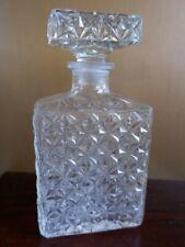 Great Vintage Rectangular Glass Decanter