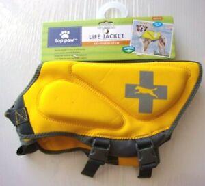 Neoprene Dog Life Jacket - TOP PAW - Sz Medium 30 - 50 lbs - Yellow