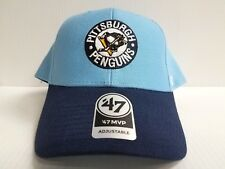 c5b8c563b02160 Pittsburgh Penguins 47 Brand Cap Hook & Loop Adjustable MVP Vintage Hat NHL