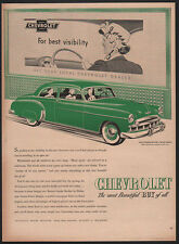 1949 CHEVROLET STYLELINE Green Deluxe Car - CHEVY VINTAGE AD