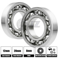 2x 6001-Ball Bearing 12mm x 28mm x 8mm Premium Deep Groove New QJZ Free Shipping