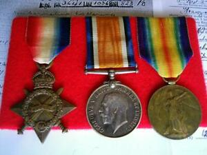 WW1 medal trio Corp Lottering 5th South African Infantry & SAMC from Cape Colony