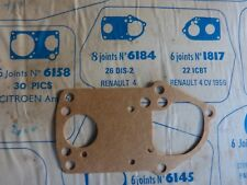 joint carburateur MEILLOR n° 6184 pour SOLEX 26 DIS 2 / renault 4 - NEUF