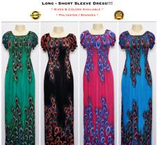 Women's Casual Evening Party Long Summer Short Sleeve Boho Maxi Dress M-XL 328-7