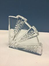 Waterford Crystal Quadrant Bookend Fan Shape Single Only