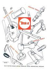 BSA Motorcycle Motorbike Service Tools Parts Manual