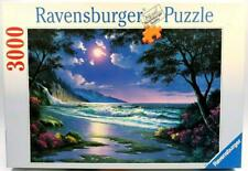 3000 PIECE JIGSAW PUZZLE MOONLIGHT BEACH BY RAVENSBURGER EXC COND COMPLETE
